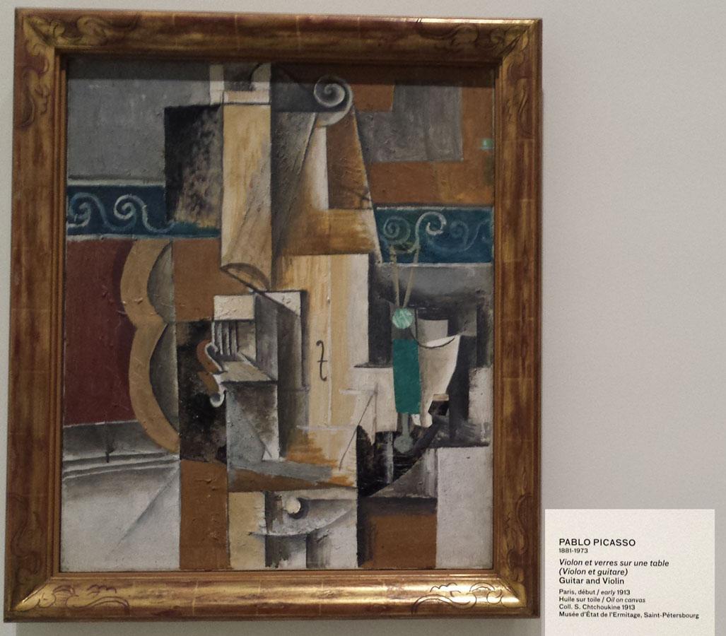 Violon et verres - Picasso