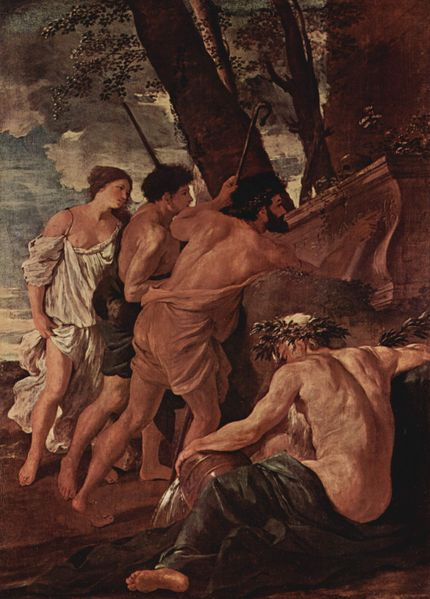Les bergers d'Arcadie, 1êre version